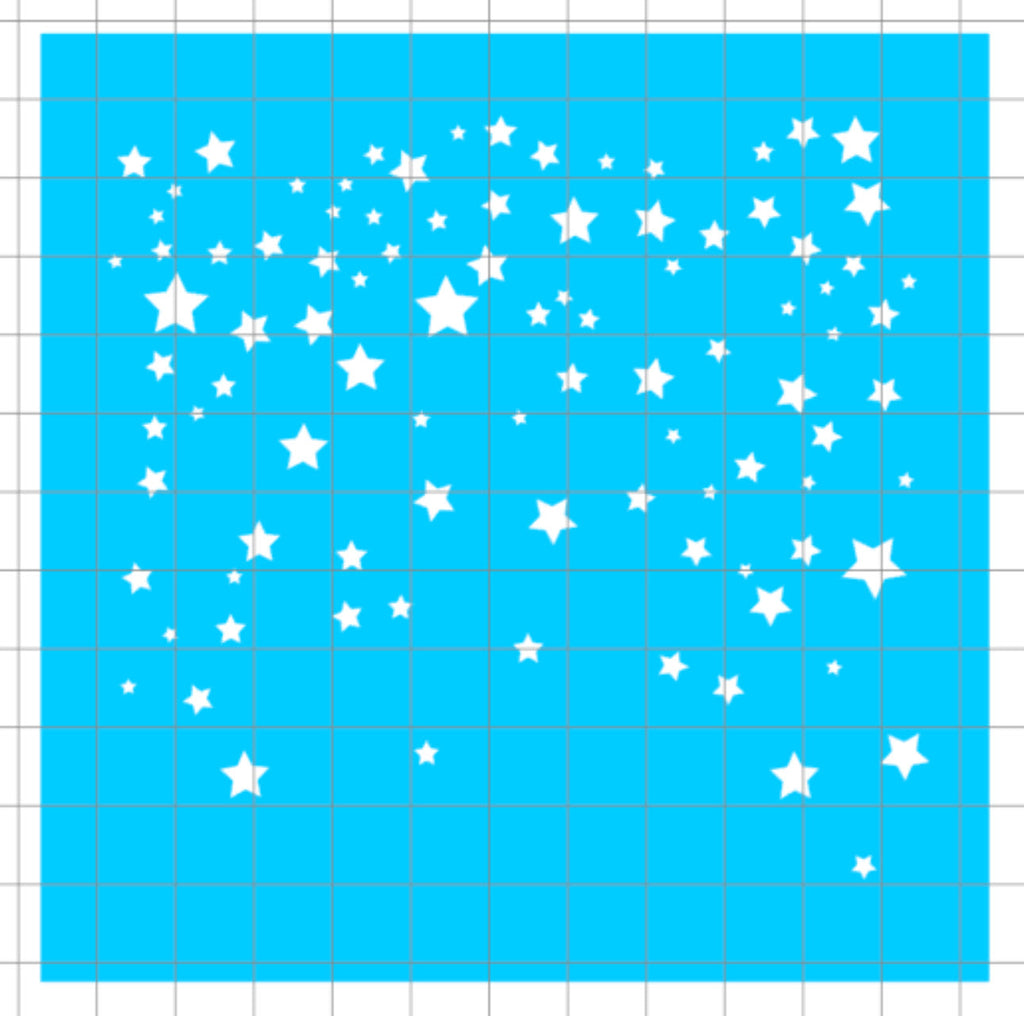 Stencil - Falling Stars Background