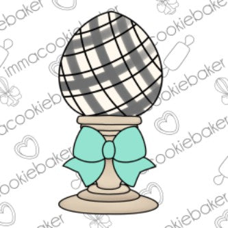 Farmhouse Easter Egg w/Bow Candlestick