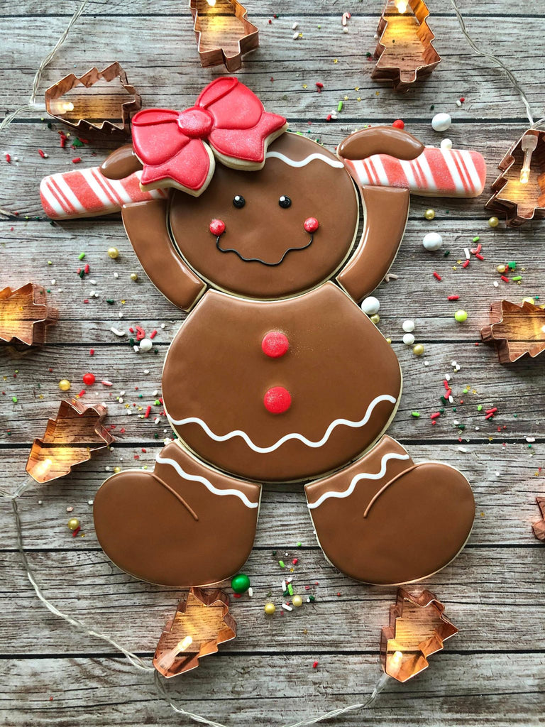 STL DOWNLOAD - Gingerbread Boy/Girl Platter