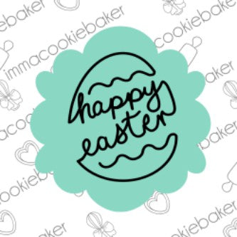 SILK Stencil - Happy Easter Egg