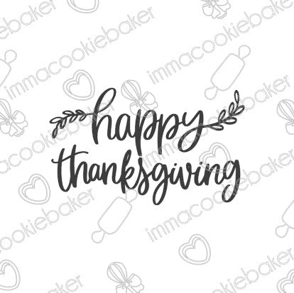 SILK Stencil - Happy Thanksgiving Laurels