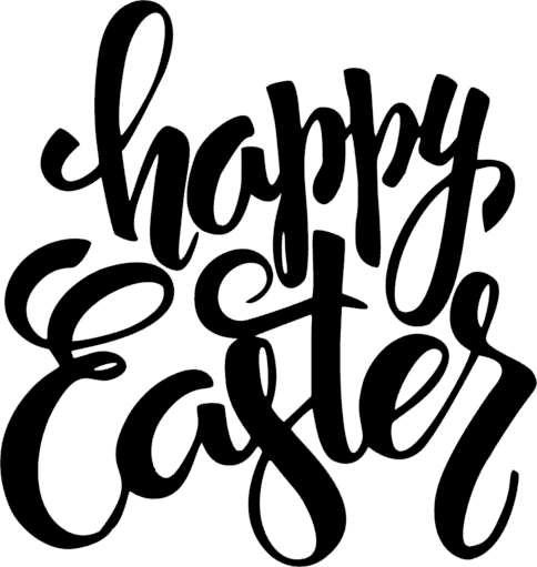 Happy Easter Lettering Plaque