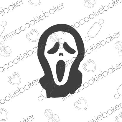 SILK Stencil -  HORROR - Scream