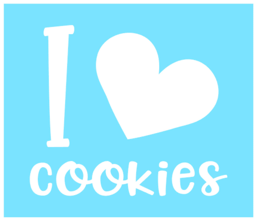 Vinyl Decal - I Love Cookies