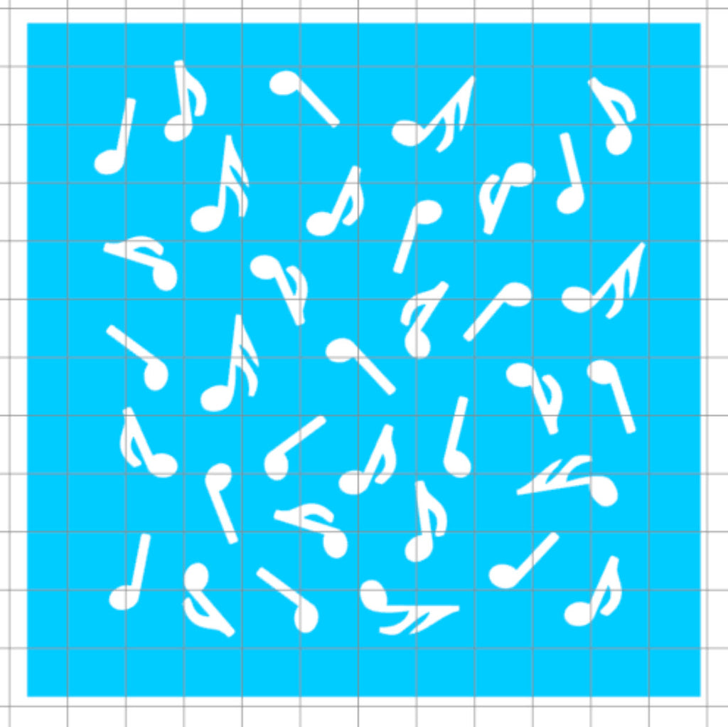 Stencil - Music Notes Scatter
