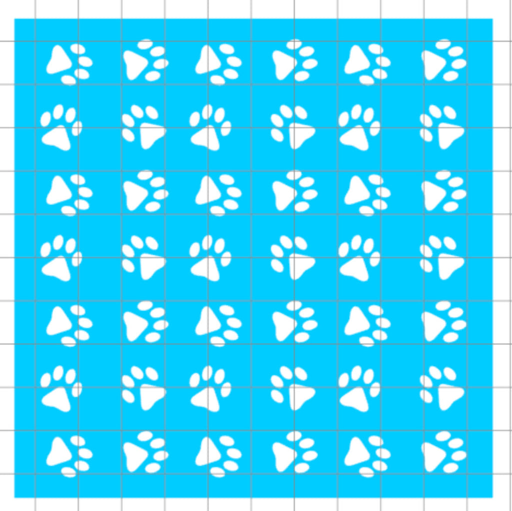 Stencil - Paw Print Scatter