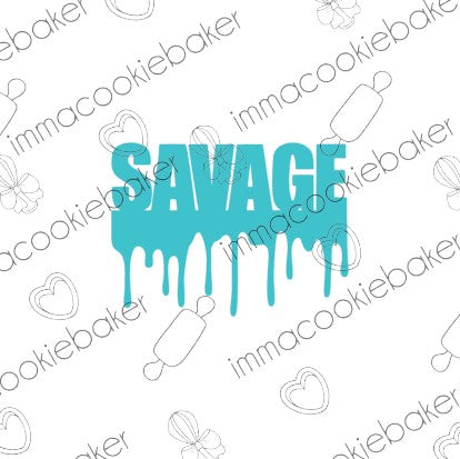 SILK STENCIL - Savage Drip