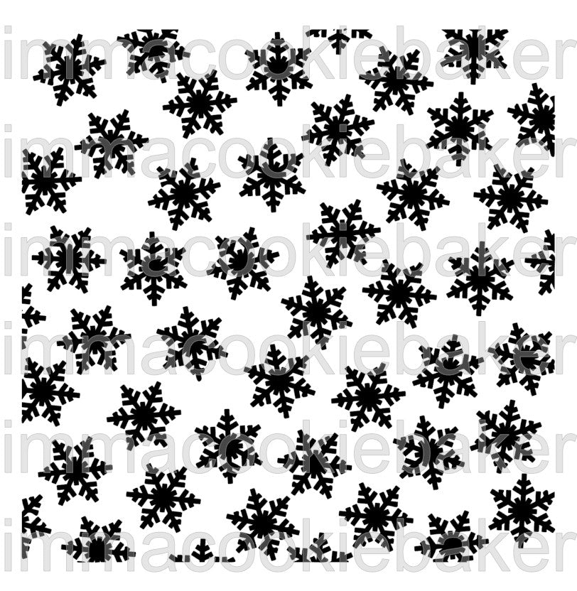 Stencil - Snowflake Scatter Background