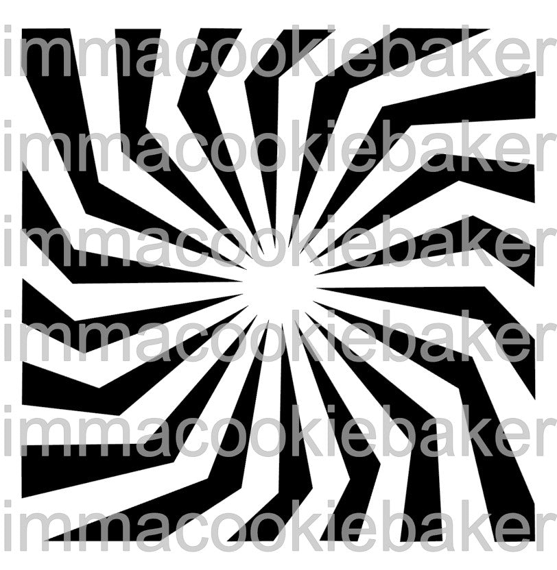 Stencil - Spiral Sunburst Background