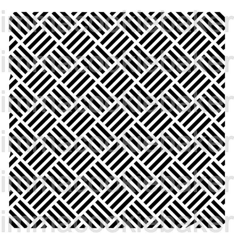 Stencil - Square Weave (parquet) Background