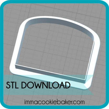 STL DOWNLOAD - Porch Platter Add-On Curved Window
