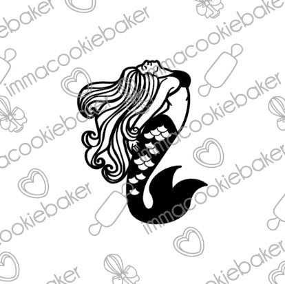 SILK Stencil - TATTOO Mermaid