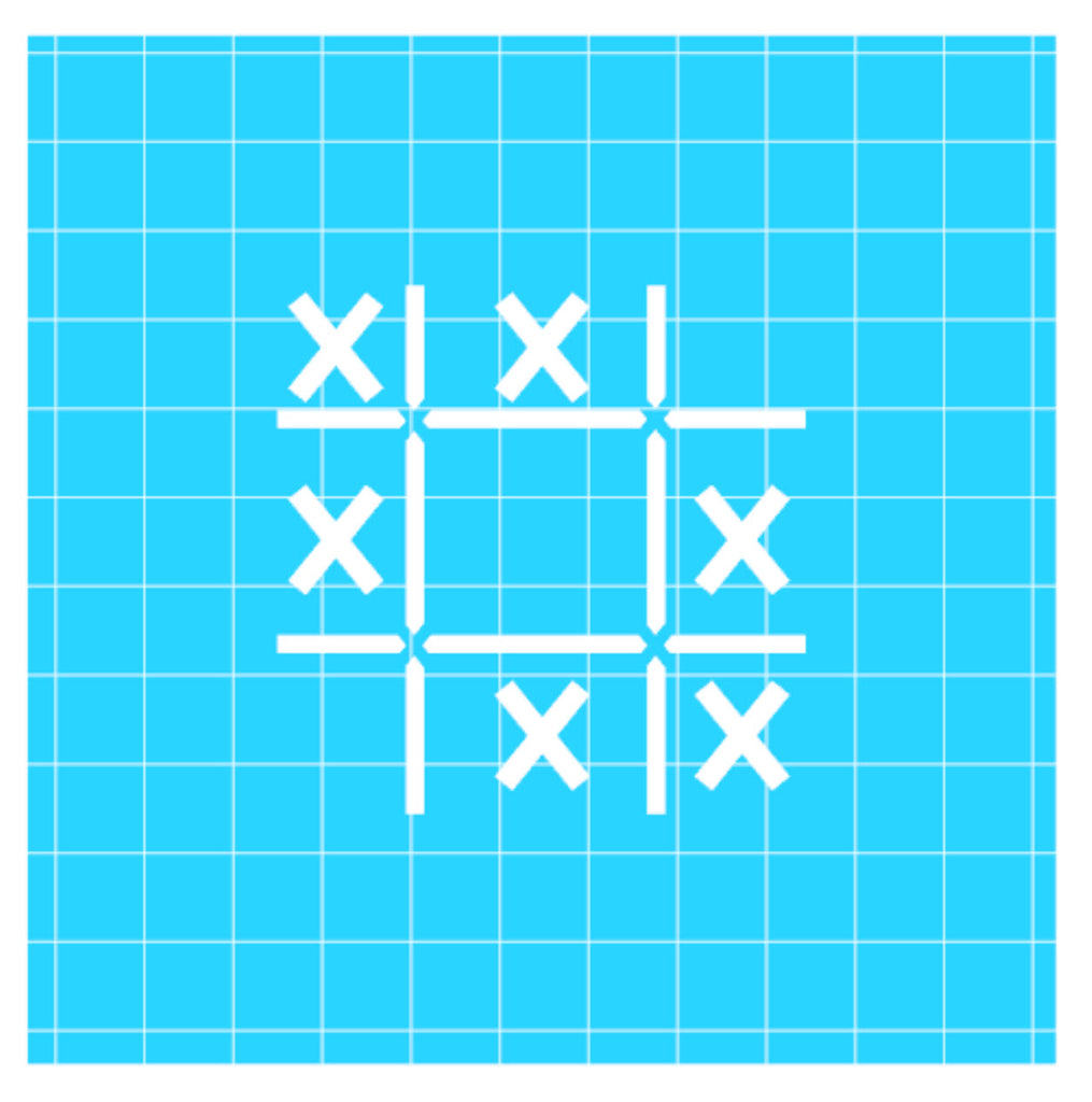 Stencil - Tic Tac Toe 2 pc