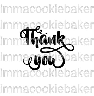 SILK Stencil - Thank You