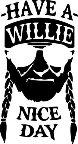 SILK Stencil - Willie Nelson1