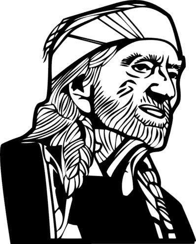 SILK Stencil - Willie Nelson2