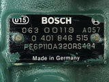 0-401-846-515 (0401846515) (9004881527) Bosch Diesel Fuel Injection OEM P Pump Fits Volvo Eng - Goldfarb & Associates Inc