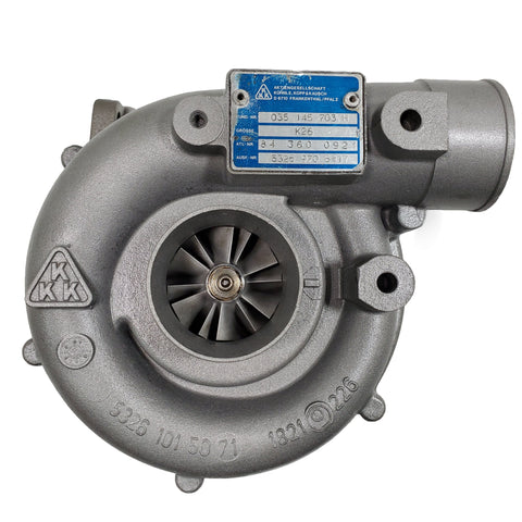 5326-970-6417 (035145703H) Rebuilt KKK K26 Turbocharger Fits 1984-2008 Audi Gas Engine - Goldfarb & Associates Inc