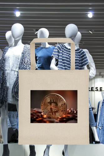 Tote bag with Bitcoin Design 1