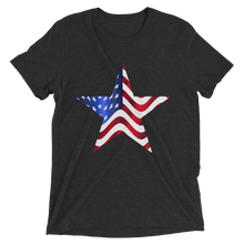 Short Sleeve T-Shirt with US Flag on Star Design 3