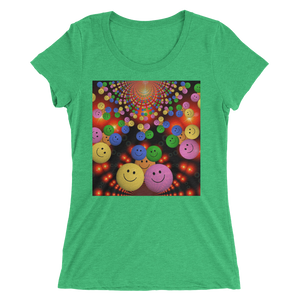 Smileys Design T-Shirt For Women Short Sleeve 1