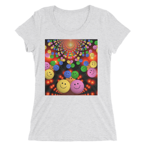 Smileys Design T-Shirt For Women Short Sleeve 8
