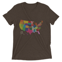 Short Sleeve T-Shirt With Colored US Map Design 3