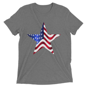 Short Sleeve T-Shirt with US Flag on Star Design 4