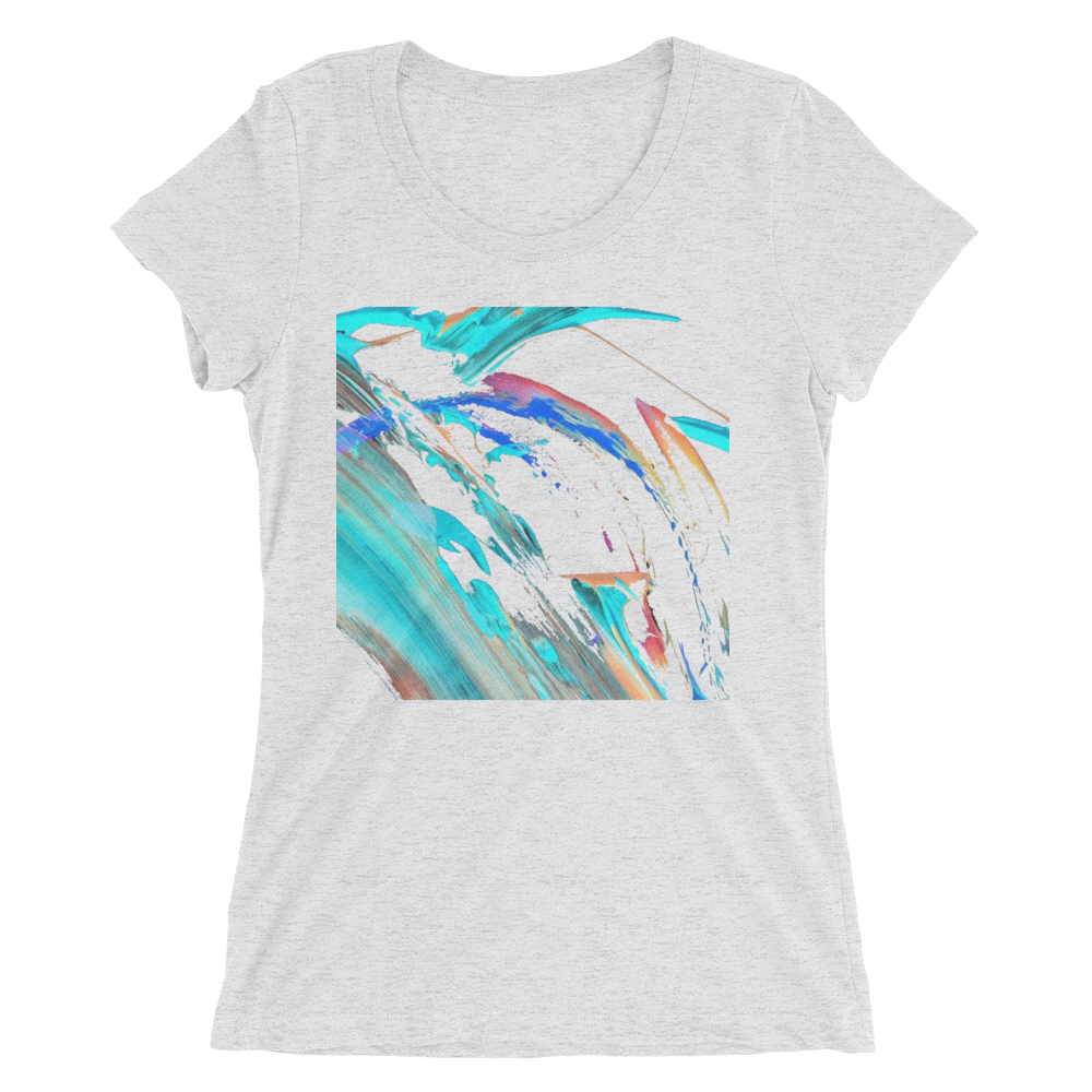 30fb407c Abstract Color Design T-shirt For Women – Unique T-Shirt Store