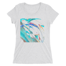 Abstract Color Design T-shirt For Women 1