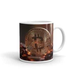 Ceramic Mug with Bitcoin Design