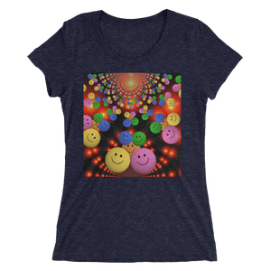 Smileys Design T-Shirt For Women Short Sleeve 5