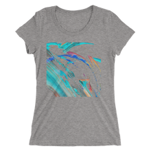 Abstract Color Design T-shirt For Women 4