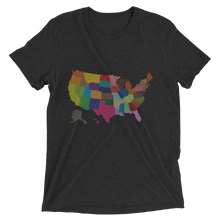 Short Sleeve T-Shirt With Colored US Map Design 2