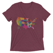 Short Sleeve T-Shirt With Colored US Map Design 6