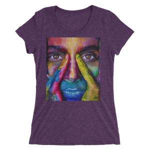 Painted Face T-Shirt For Women 1