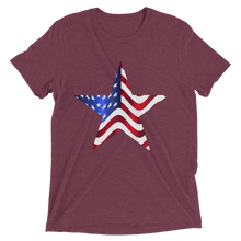 Short Sleeve T-Shirt with US Flag on Star Design 9