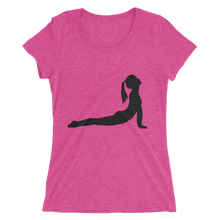 Women's Short Sleeve T-Shirt with Yoga Cobra Pose Design