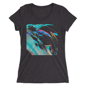 Abstract Color Design T-shirt For Women 2