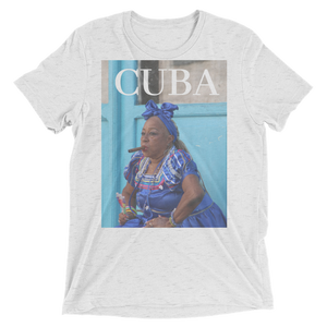 Cuban Lady With Cigar Designed T-Shirt