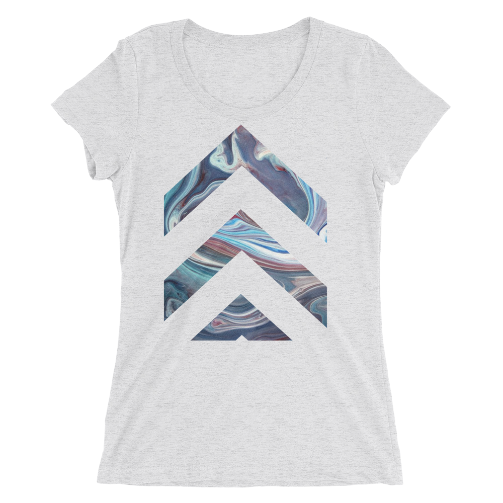 7a2f53c2 Abstract Lanes Design T-shirt For Ladies – Unique T-Shirt Store