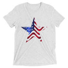 Short Sleeve T-Shirt with US Flag On Star Design