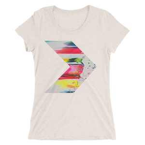 Abstract Art Design T-Shirt For Women 1