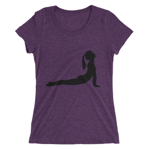 Women's Short Sleeve T-Shirt with Yoga Cobra Pose Design 5