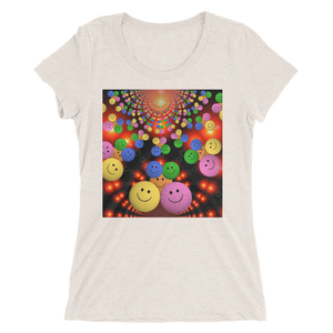 Smileys Design T-Shirt For Women Short Sleeve 6