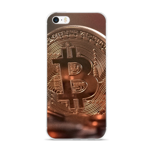 iPhone 5/5s/Se, 6/6s, 6/6s Plus Case with Bitcoin Design