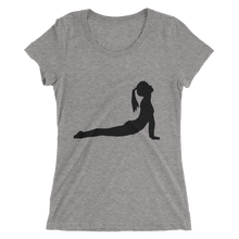 Women's Short Sleeve T-Shirt with Yoga Cobra Pose Design 3