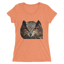 Owl Design on Women's Short Sleeve T-Shirt 7