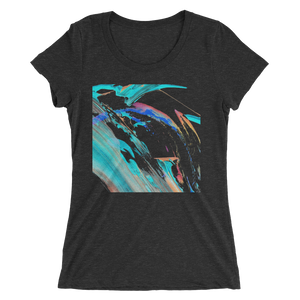Abstract Color Design T-shirt For Women 3
