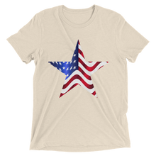Short Sleeve T-Shirt with US Flag on Star Design 11